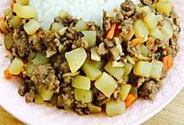 胡萝卜土豆牛肉末的做法