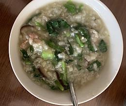 青菜瘦肉粥的做法