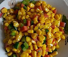 玉米粒的做法