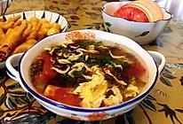 超简单的西红柿紫菜蛋花汤的做法