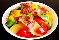 彩椒土豆片炒培根的做法