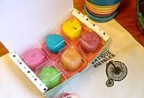 蔓越莓椰蓉彩虹冰皮月饼的做法