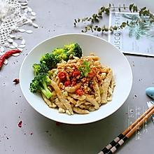 """#秋天怎么吃# 油泼土豆面鱼鱼——山西面食""""剔尖""""改良版"""