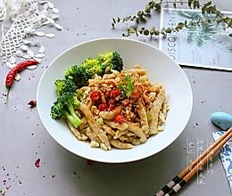 """#秋天怎么吃# 油泼土豆面鱼鱼——山西面食""""剔尖""""改良版的做法"""