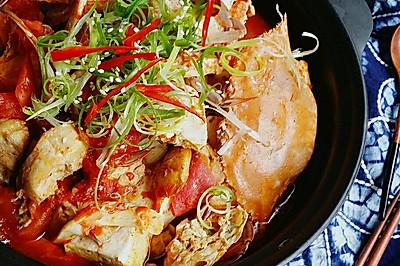 料足开胃#白贝豆腐土鸡花蟹煲#