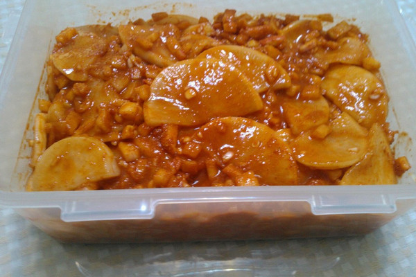 韩式辣萝卜的做法
