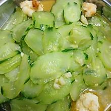 青瓜炒鲜虾