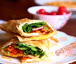 春季长高食谱1:让小朋友大口吃下各种营养的鸡蛋卷肉饼!的做法