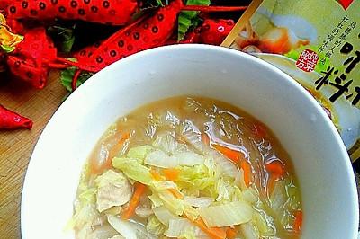 大喜大牛肉粉试用之(新手必学10分钟快手汤)大白菜贡丸粉丝汤
