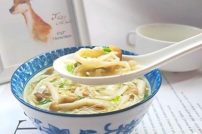 #一人一道拿手菜#蟹味菇这样做汤比平菇做汤更好吃