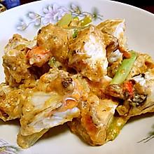 辽宁大连年夜饭必备-蛋黄炒蟹