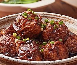 【油面筋塞肉】大上海才有的大肉丸,特别不一般!的做法