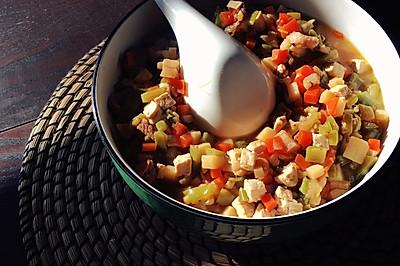 豆腐五花肉杂菜臊子