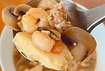 减脂期——虾仁豆腐蘑菇汤(低碳高蛋白)的做法