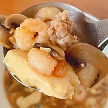 减脂期——虾仁豆腐蘑菇汤(低碳高蛋白)