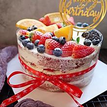 不会裱花也可以做的生日蛋糕