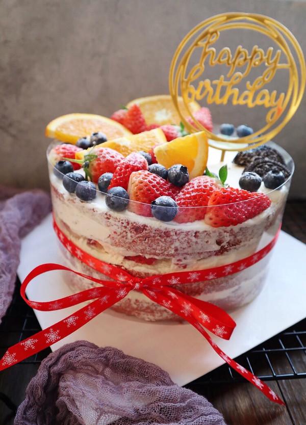 不会裱花也可以做的生日蛋糕的做法
