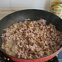 酸菜肉末——新厨娘的创新年夜菜的做法图解5