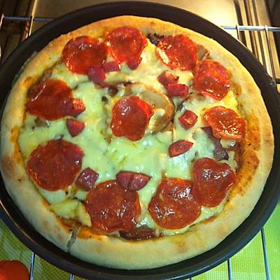 7寸培根杏鲍菇超芝pizza