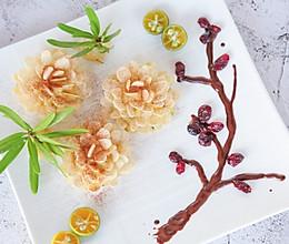 花开富贵—杏仁片土豆泥的做法
