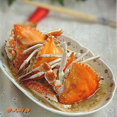 倒立蒸梭子蟹