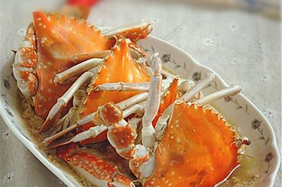 倒立蒸梭子蟹#寻找最聪明的蒸菜达人#