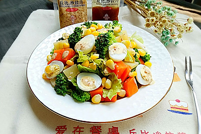 什锦鹌鹑蛋沙拉#丘比沙拉汁#