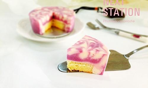 Fluff 棉花糖之大理石纹紫薯巧克力慕斯#有颜值的实力派#的做法