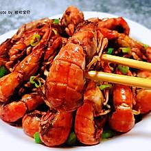 #太太乐鲜鸡汁玩转健康快手菜#辣爆蝼蛄虾