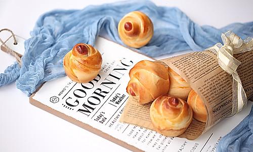 玫瑰花朵面包的做法