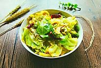 炝炒圆白菜~开胃菜的做法