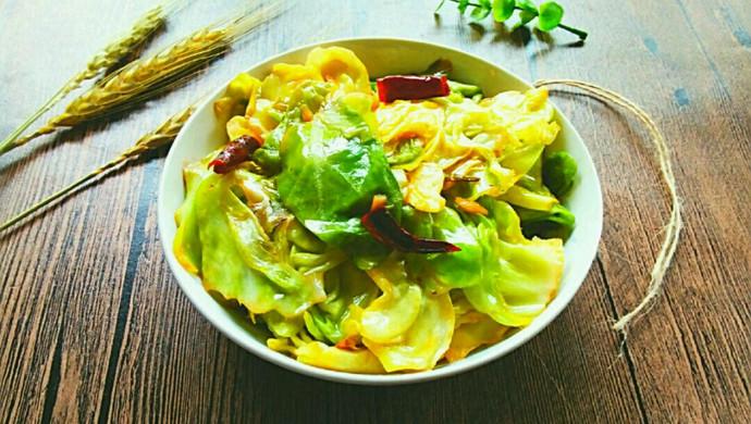 炝炒圆白菜~开胃菜