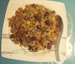 牛肉粒胡萝卜炒饭的做法