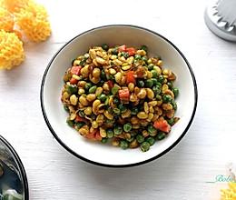 豌豆炒黄豆#春季减肥,边吃边瘦#的做法