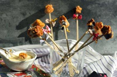 月饼创意菜之月饼棒棒糖