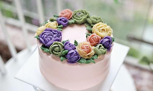 豆沙裱花蛋糕的做法