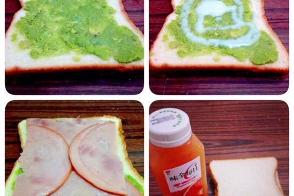 牛油果涂面包的做法
