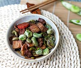五香五花肉焖蚕豆(比葱油蚕豆好吃11倍)的做法