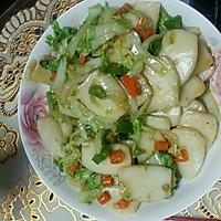 大白菜炒年糕的做法图解1