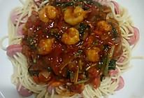 鲜虾烤肠意大利面的做法