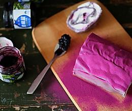紫薯蓝莓毛巾卷的做法
