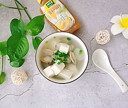 #太太乐鲜鸡汁玩转健康快手菜#花蛤豆腐汤的做法