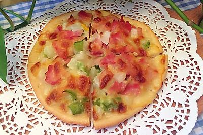 培根蔬菜披萨