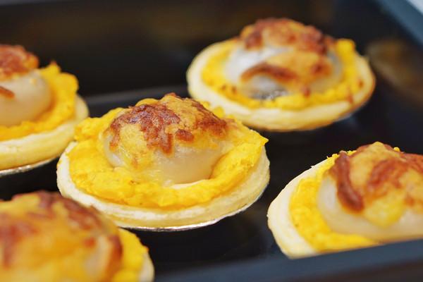 金黄奶酪汤圆红薯挞——烤了个元宝~