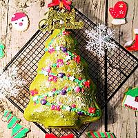 抹茶酸奶圣诞树蛋糕#1%的最嗨烘焙#