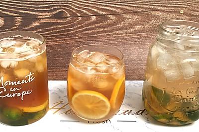 超简单柠檬红茶冰和绿茶冰,天气太热,来自制一杯清凉冰爽饮品吧