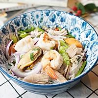 #美食新势力#泰式海鲜粉丝沙拉的做法图解8