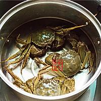 家常菜系列 - 咸肉蒸大闸蟹的做法图解4
