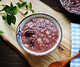 紫米红豆杂粮粥的做法