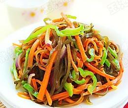 胡萝卜炒海带丝的做法